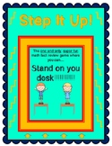 """""""Step It Up!"""" - the Math Fact Review Game Where You Can St"""