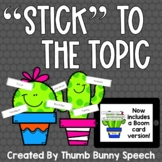 Stick To The Topic - Maintaining A Conversation
