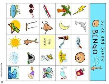 """""""Stick and Stone"""": Book Companion For Speech Therapy"""