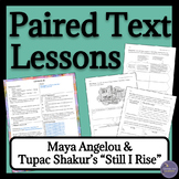 """Paired Text Lessons """"Still I Rise"""" by Maya Angelou and Tupac"""