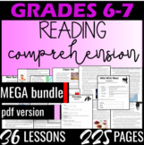Reading Comprehension Passages {MEGA Bundle} Informational Text Grade 6 (PDF)