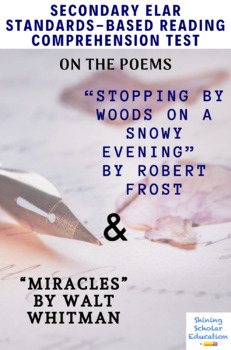 """Stopping...Snowy Evening"" by Frost & ""Miracles"" by Whitman Poetry Reading Test"