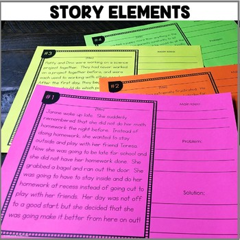 """""""Story Elements"""" Center"""