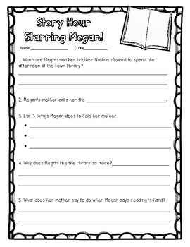 """Story Hour Starring Megan!"" A 2nd Grade Open Court Story Pack"