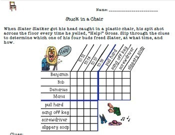 """Logic Puzzle to Challenge Gifted and Talented or Bright Kids: """"Stuck in a Chair"""""""