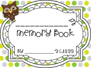{{Student Teacher Memory Book - or for all occassions!}}