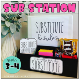 Sub Station Kit *Grades 3-4* | For the Substitute
