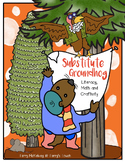"""""""Substitute Groundhog"""" Literacy, Math and Craftivity"""