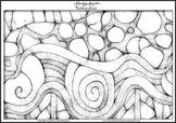 'Subterranean' - Printable Colouring Page.