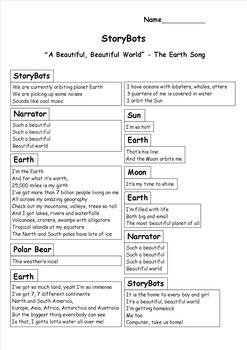 """Such a Beautiful, Beautiful World"" - The Earth Song (StoryBots Lyrics)"