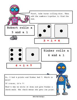 """Sum Dice"" Printable Adding Game"