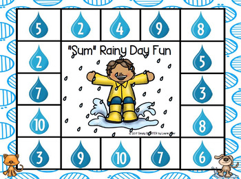 """Sum"" Rainy Day Fun:  NO PREP Spot and Dot Game"