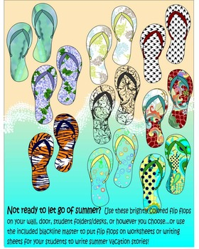 * Summer Flip Flops * Back To School * Clip Art * Game *