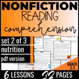 Reading Comprehension: Nutrition {Nonfiction Set2/3} Vocab