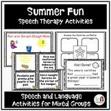 """Summer Fun"" Speech and Language Bundle"