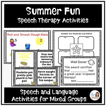 """Summer Fun"" Speech Therapy Activities"