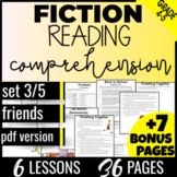 Reading Comprehension Passages: Friends {Fiction Set 3/5} Literacy Centers (PDF)