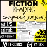 Reading Comprehension Passages: Animals {Fiction Set 1/5} Independent Work (PDF)