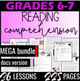 Distance Learning Reading Comprehension Passages {MEGA Bundle} Grade 6 (DOCS)