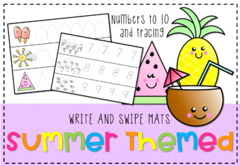 *Summer Themed Write and Swipe Mats* Maths Rotations