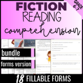 6th Grade Reading Comprehension Passages {Fiction Bundle} Self Grading (FORMS)