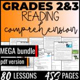 Reading Comprehension Passages {MEGA Bundle} Independent Worksheets Gr.2-3 (PDF)