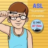 """Summer"" in ASL - free clip art set"