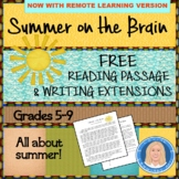"End of Year FREE  ""Summer on the Brain"" Informational Text"