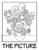 """""""Sunflowers"""" by Van Gogh COLLABORATIVE Activity Coloring Pages"""