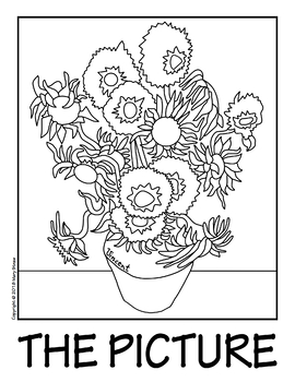 """van goghs sunflowers coloring pages 