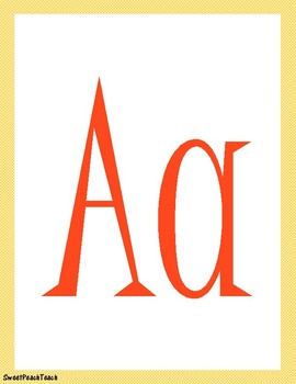 """Sunny Days"" alphabet posters & desk plates!!"