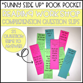 """""""Sunny Side Up"""" Book Pocket & Comprehension Discussion Questions"""