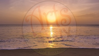 """Sunrise on the Ocean"" - Photograph - Ocean Background - Stock Photo"