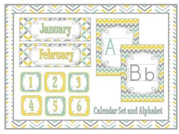 """Sunshine"" (Aqua, Teal, & Yellow) Classroom Theme Decoration Pack"