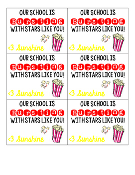 ** Sunshine Gift Tag ** Our School is Bursting with Teache