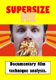 'Super Size Me' documentary film technique analysis
