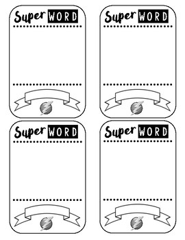 """Super Word"" Vocabulary Trading Card Template - a FUN way to teach vocab!"