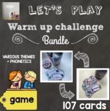 [Super bundle] Warm up challenge (various themes + phonetics)