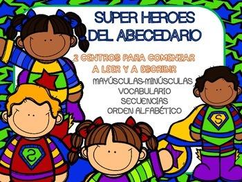 """""""Super héroes del abecedario"""". Iniciación a la lectoescritura en español."""
