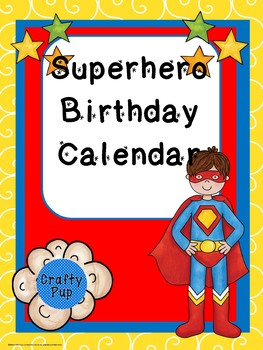 """Superb"" Birthday Calendar Poster Size"