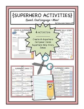 {Superhero Fun Pack} Themed Speech Activities