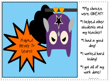 """Superhero Owls"" Themed Behavior Charts and Weekly Tracker"