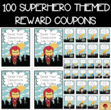 Superhero Theme Set of 100 Reward Coupons