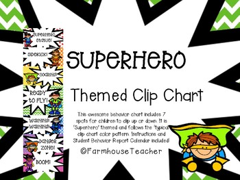 'Superhero' Themed Behavior Clip Chart