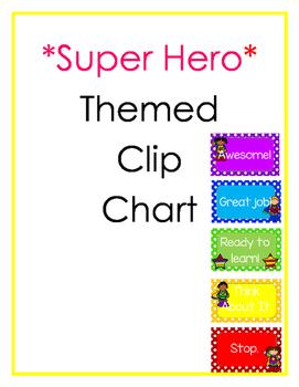*Superhero* Themed Clip Chart