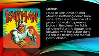 """Superheroes of Latin America"" Spanish Cultural Lesson and Superhero Project"