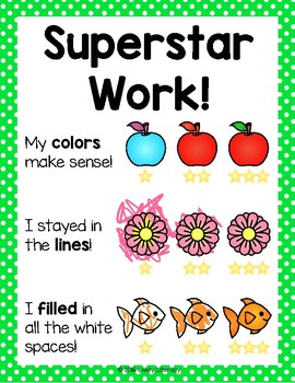 'Superstar Work!' Writing Center Poster