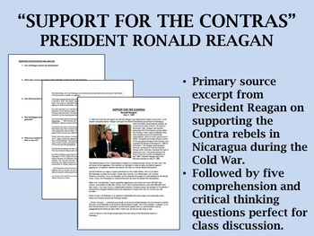 """Support for the Contras (1984)"" - Ronald Reagan - Cold Wa"
