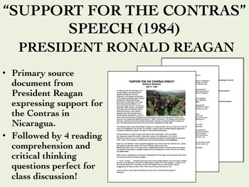 """""""Support for the Contras"""" Speech - President Reagan - US History/APUSH"""