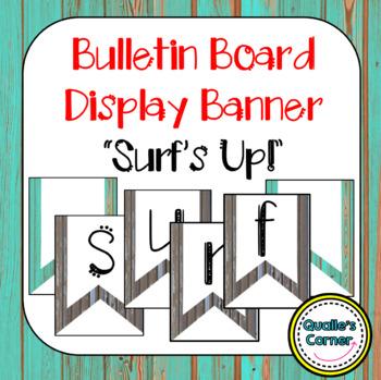 """""""Surf's Up! Banner in Boardwalk & Surfing Theme"""